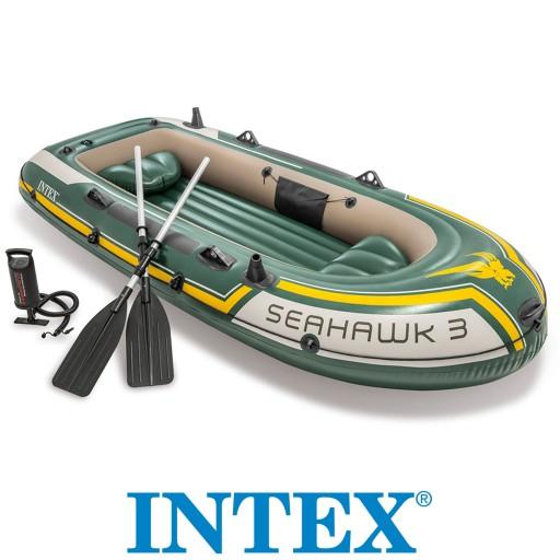 PONTON SEAHAWK 3 +WIOSŁA 3-osobowy INTEX 68380