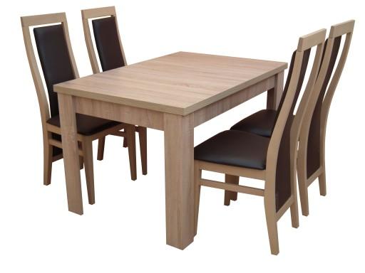 Nowość Stół Rozkładany 165120x80 Z 4 Krzesłami 6915729592 Allegropl