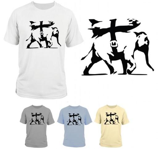 koszulka  t-shirt Banksy style / słoń