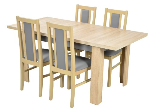 Stół 4 Krzesła Do Kuchni Jadalni Laminat