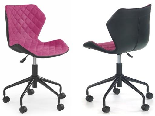 Krzesło Biurowe Młodzieżowe Różowe Matrix 24h