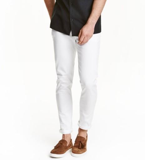 H&M klasyczne letnie spodnie na lato W36 - 38