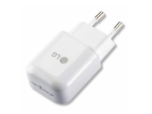 ORYGINALNA ŁADOWARKA LG USB 9V 5V 1,8A Biała FAST