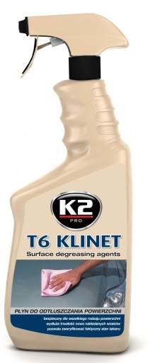 T6 KLINET odtłuszcza lakier i szyby IPA izopropyl