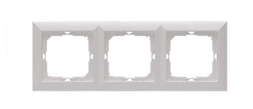 Perła RAMKA POTRÓJNA biała Ra-3P pion poziom