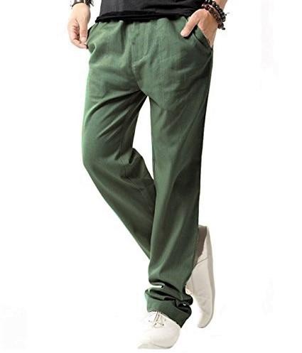 H&M klasyczne lniane spodnie KHAKI XS jak S