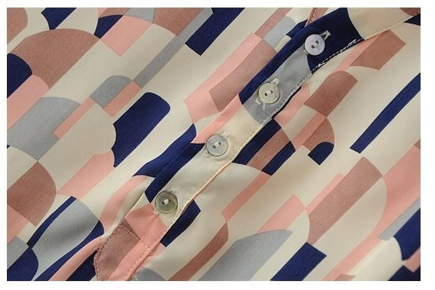Women's stylish patterned mist print shirt S 9664446917 Odzież Damska Topy YM HGXGYM-8