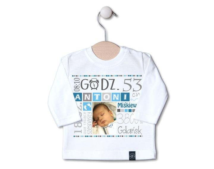 BLUZKA METRYCZKA NADRUK 62 chrzest PREZENT wzory 6676579728 Dziecięce Odzież BG YZFBBG-1