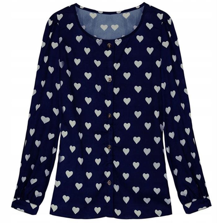 Mist, women's blouse, buttons, stylish print XXL 4 9664446868 Odzież Damska Topy PG NLVKPG-2