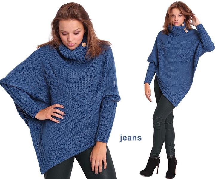 PASMANTEX MOENA PONCZO SWETER PONCHO GOLF RĘKAWKI 7015923317 Odzież Damska Swetry WH OVOQWH-8