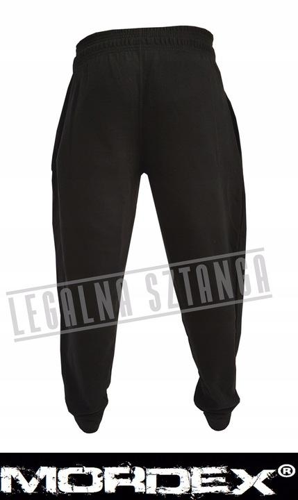 Spodnie dresowe MORDEX czarne L pas do 130cm! 7660712977 Odzież Męska Spodnie XM ZSGNXM-8