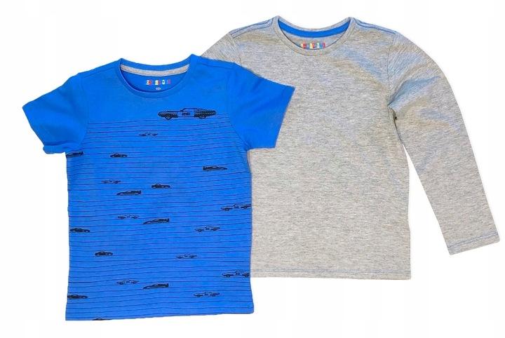 SAMOCHODY 2pak bluzka koszulka tshirt *122-128 7593437607 Dziecięce Odzież XQ XWXXXQ-5