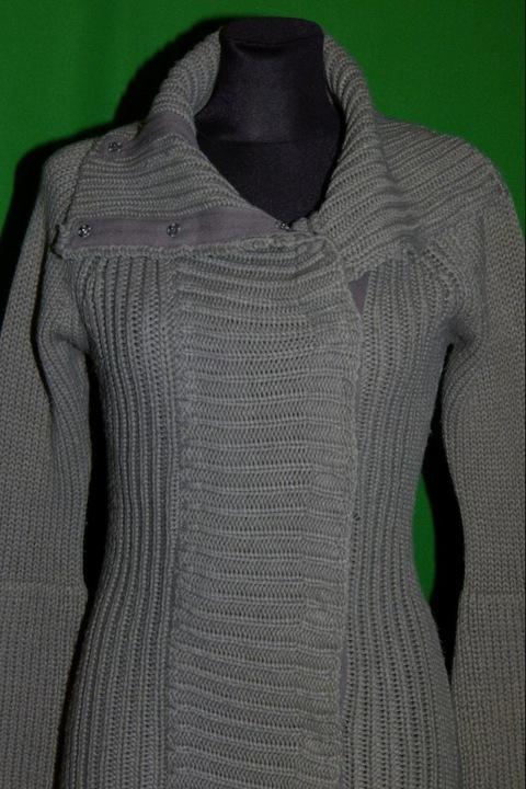 długi grubszy sweter akryl ZARA / M 9824294694 Odzież Damska Swetry MS OOSMMS-3