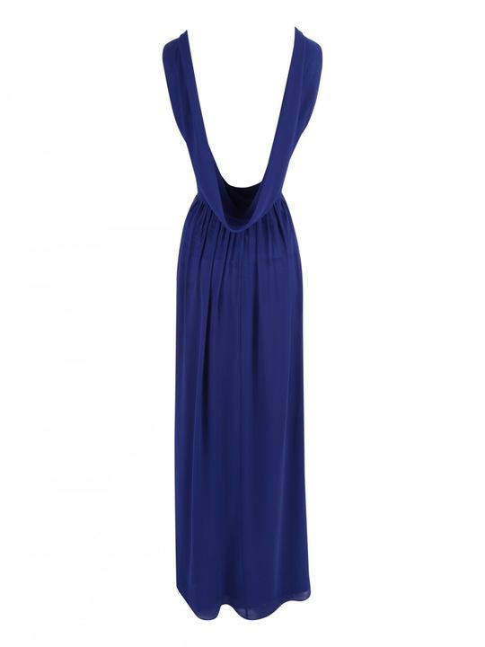 -% JANE NORMAN długa kobaltowa glamour jak NOWA 40 9483423346 Odzież Damska Sukienki wieczorowe BT AHDSBT-6