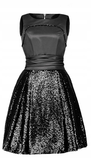 CAMILL 189 szara sukienka w cekiny 48 wysyłka 24h 8285287978 Odzież Damska Sukienki wieczorowe OG WQTQOG-9